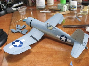 All masking removed, national insignia and wing walk areas all painted and complete.